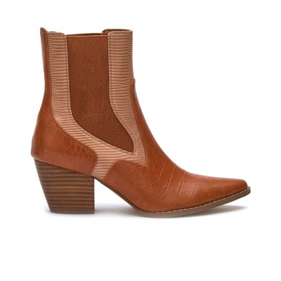 Women's Coconuts Duo Western Boots Brown/Natural Business Casual The Top Selling R6TFW6253