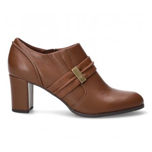Women's Easy Street Berit Booties Tan Business Casual outfits FU8KL6521