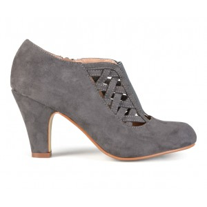 Women's Journee Collection Piper Booties Grey Formal Best YB0ZD1134