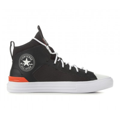 Men's Converse Chuck Taylor All Star Ultra Lightweight Mid Sneakers Blk/Storm/Poppy Business Casual 8J4TY4893