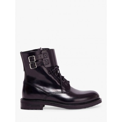 AllSaints Brigade Leather Lace Up Biker Boots Black for Women Going Out MSA2O190