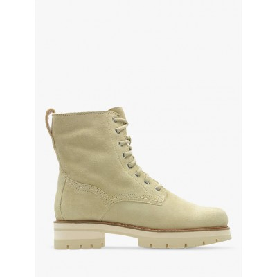 Clarks Orianna Suede Hiker Boots Taupe Women HB84A9587