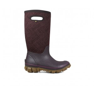 Women's Bogs Footwear Whiteout Fleck Winter Boots Grape Going Out good quality 0PRH85101