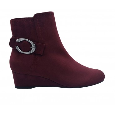 Women's Impo Guevera Wedge Booties Burgundy Formal Collection 4H0I24660
