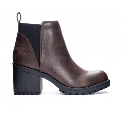 Women's Dirty Laundry Lido Lugged Chelsea Boots Coffee Fitted C92GY1192