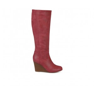 Women's Journee Collection Langly Knee High Boots Red T8C3Q9549