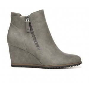 Women's Soul Naturalizer Haley Wedge Booties Light Grey Going Out 8F94B8310