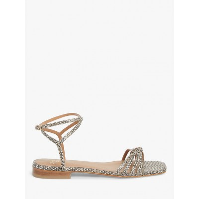 AND/OR Lundi Strappy Flat Sandals Natural for Women GJFZ94472