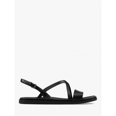 Clarks Ofra Leather Strap Sandals Black Women Going Out K4SSY9117