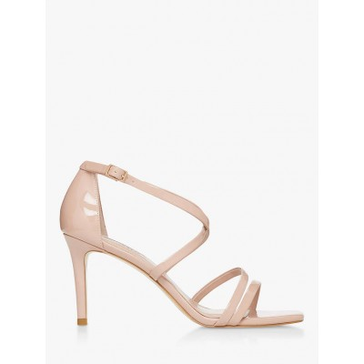 Dune Musical Patent Strappy Stiletto Sandals Blush for Women Going Out 9NIJW6279