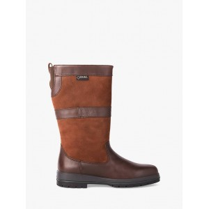 Dubarry Kildare Leather Gore-Tex Calf Boots Brown for Women Going Out 0FPDQ702