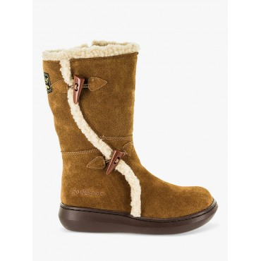 Rocket Dog Slope Suede Faux Shearling Lined Calf Boots Chestnut Women AN6LV7778