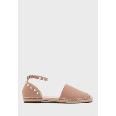 Ella Girls dusty-pink Ankle Strap Espadrille With Pearl Detail S479T8852