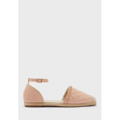 Ginger Girls blush pink Quilted Ankle Strap Espadrille With Chain Detail 3A5A51956
