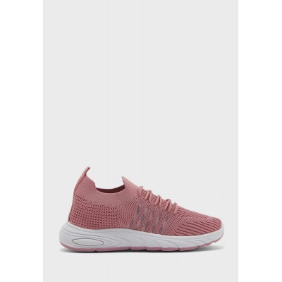 Ginger Girl's pink Stripe Detail Lace Up Sneaker 3Q4VQ5300