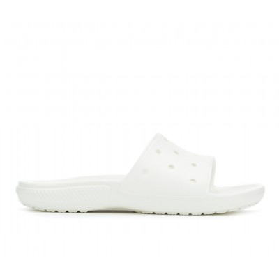 Adults' Crocs Classic Slide Sandals White Going Out Clearance Sale VQFZC753