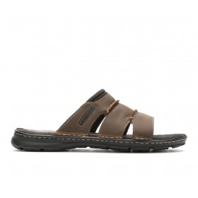Men's Rockport Darwyn Outdoor Sandals Brown Going Out on clearance TR7X09450
