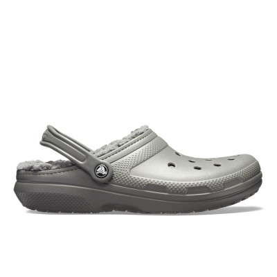 Adults' Crocs Classic Lined Clogs Slate Grey/Smok Going Out shopping KTN0S3910